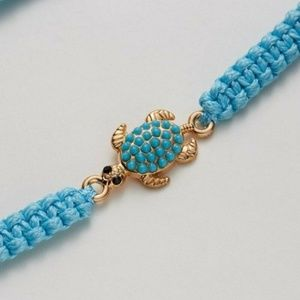 Adjustable Infinity Turquoise Turtle Bracelet